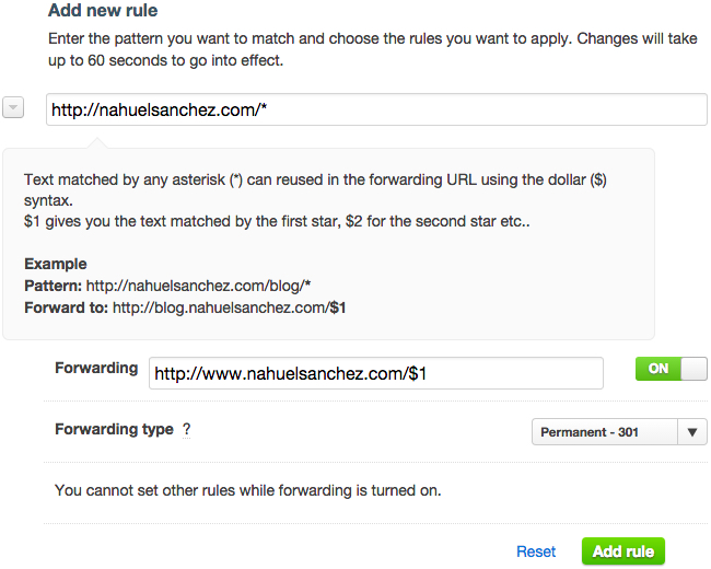 Page Rule configuration to redirect non-www URLs to www version