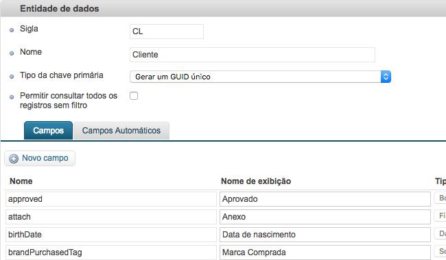 Data Entity's attributes from VTEX Master Data